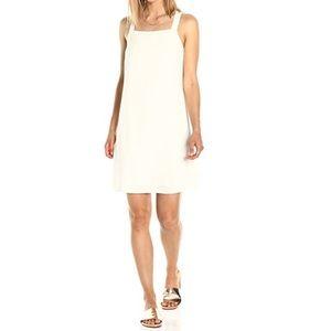 Square Neckline Back Bow Ivory Dress